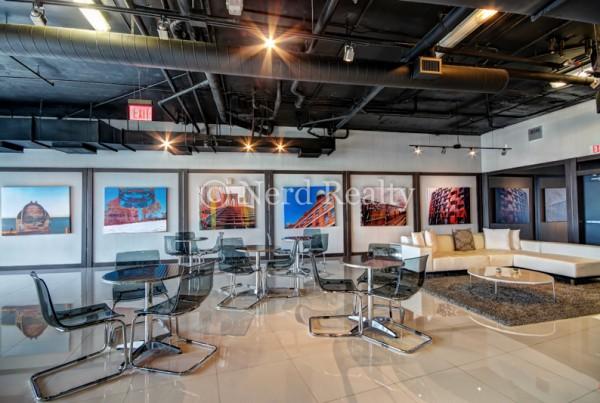 Blue Condo Miami Media Room