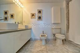 Blue Condo Miami Bathroom