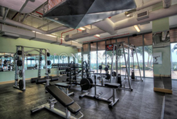 Blue Condo Miami free weights