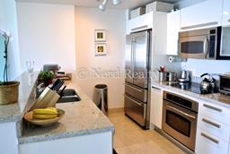 Blue Condo Miami kitchen