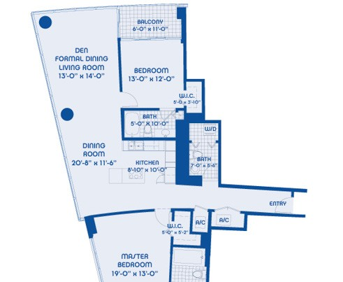 Blue condo floor plans for Select floor plans