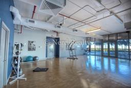 blue condo miami yoga room